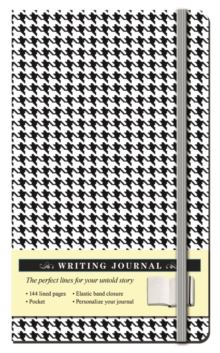 Houndstooth Black and White Journal, Hardback Book