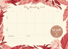 "52 Lists ""My Weekly List"" Desk Pad, Diary Book"