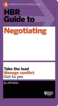 HBR Guide to Negotiating (HBR Guide Series), Paperback / softback Book