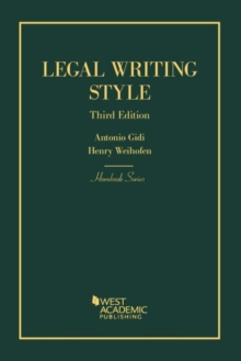 Legal Writing Style, Paperback / softback Book