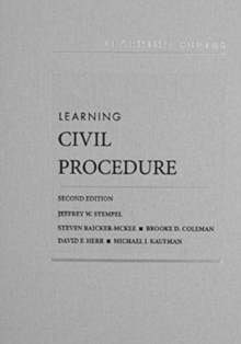 Learning Civil Procedure, Hardback Book