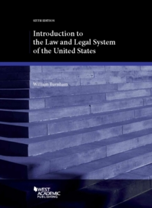 Introduction to the Law and Legal System of the United States, Paperback / softback Book