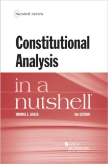 Constitutional Analysis in a Nutshell, Paperback / softback Book