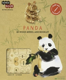 IncrediBuilds Animal Collection: Panda, Kit Book