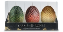 Game of Thrones: Sculpted Dragon Egg Candles : Set of 3, Other printed item Book