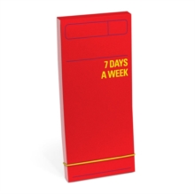 Knock Knock 7 Days a Week Planner (Red), Calendar Book
