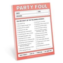 Knock Knock Party Foul Nifty Note, Stickers Book
