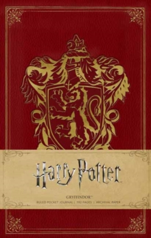 Harry Potter: Gryffindor Ruled Pocket Journal, Hardback Book