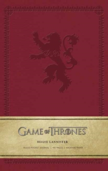 Game of Thrones: House Lannister Ruled Pocket Journal, Hardback Book