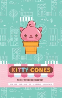 Kitty Cones Pocket Notebook Collection (Set Of 3), Paperback Book
