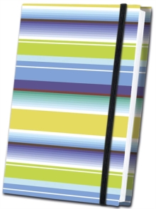 Thick Striped Fabric Journal, Hardback Book