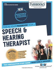 Speech & Hearing Therapist, Paperback / softback Book