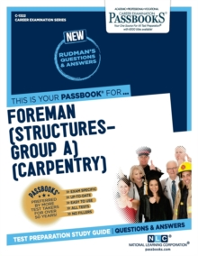 Foreman (Structures-Group A) (Carpentry), Paperback / softback Book