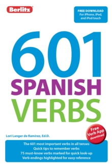 Berlitz Language: 601 Spanish Verbs, Paperback Book