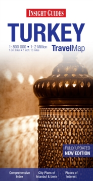 Insight Guides Travel Map Turkey, Sheet map Book