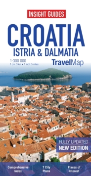 Insight Travel Maps: Croatia : Istria & Dalmatia, Sheet map Book