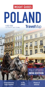 Insight Guides Travel Map Poland, Sheet map Book