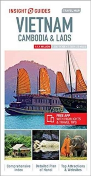 Insight Guides Travel Map Vietnam, Cambodia & Laos, Sheet map Book