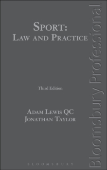 Sport: Law and Practice, Hardback Book