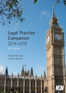 Legal Practice Companion 2014/15, Paperback Book