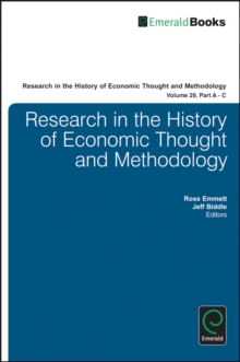 Research in the History of Economic Thought and Methodology, Multiple copy pack Book
