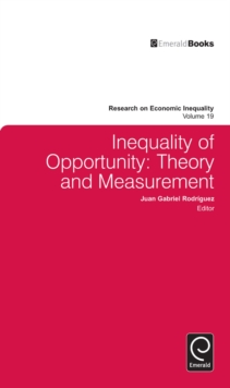 Inequality of Opportunity : Theory and Measurement, Hardback Book