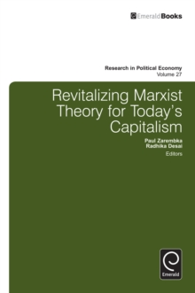 Revitalizing Marxist Theory for Today's Capitalism, Hardback Book
