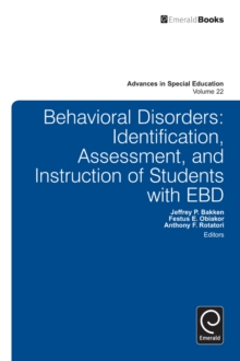 Behavioral Disorders : Identification, Assessment, and Instruction of Students with EBD, Hardback Book