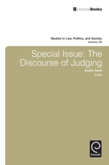 Special Issue: The Discourse of Judging, Hardback Book