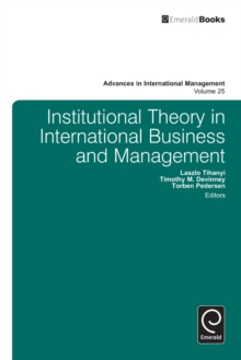 Institutional Theory in International Business, Hardback Book
