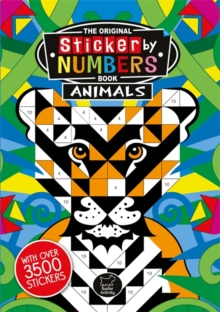 Sticker by Numbers Animals, Paperback Book
