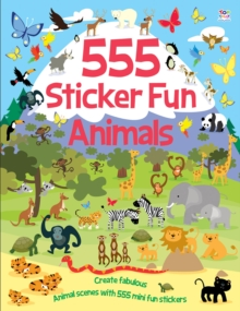 555 Sticker Fun Animals, Paperback Book