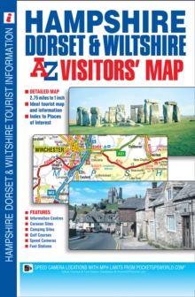 Hampshire, Dorset & Wiltshire Visitors Map, Sheet map, folded Book