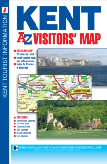 Kent Visitors Map, Sheet map, folded Book