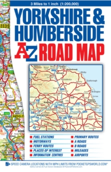 Yorkshire & Humberside Road Map, Sheet map, folded Book