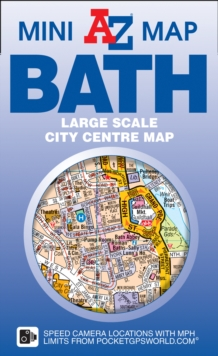 Bath Mini Map, Sheet map, folded Book