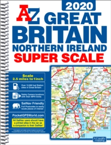 Great Britain Super Scale Road Atlas 2020 (A3 Spiral), Spiral bound Book