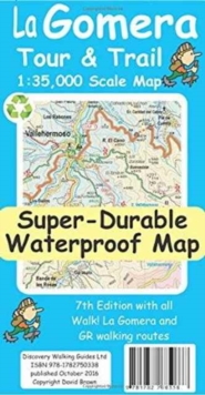 La Gomera Tour & Trail Super-Durable Map, Sheet map, folded Book