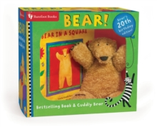Bear in a Square Board Book and Cuddley Bear Set, Mixed media product Book
