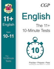 English The 11+ 10-minute tests, Paperback / softback Book