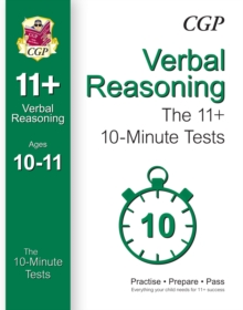 10-Minute Tests for 11+ Verbal Reasoning Ages 10-11 (for Gl & Other Test Providers), Paperback Book