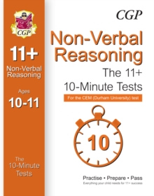 10-Minute Tests for 11+ Non-Verbal Reasoning (Ages 10-11) - CEM Test, Paperback Book
