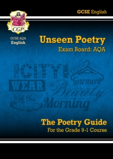 New Grade 9-1 GCSE English Literature AQA Unseen Poetry Guide - Book 1, Paperback / softback Book