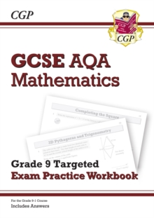 GCSE Maths AQA Grade 8-9 Targeted Exam Practice Workbook (includes Answers), Paperback / softback Book