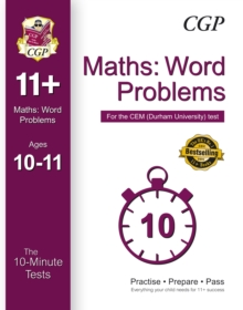 10-Minute Tests for 11+ Maths: Word Problems (Ages 10-11) - CEM Test, Paperback Book