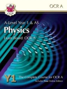 New A-Level Physics for OCR A: Year 1 & AS Student Book with Online Edition, Paperback Book