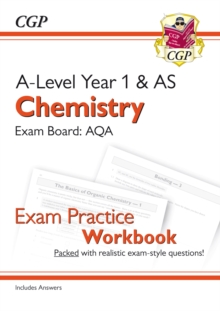 New A-Level Chemistry for 2018: AQA Year 1 & AS Exam Practice Workbook - includes Answers, Paperback / softback Book