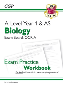 New A-Level Biology for 2018: OCR A Year 1 & AS Exam Practice Workbook - includes Answers, Paperback / softback Book