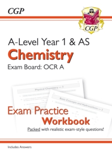 New A-Level Chemistry for 2018: OCR A Year 1 & AS Exam Practice Workbook - includes Answers, Paperback / softback Book