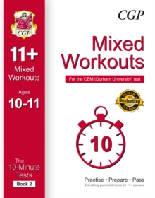 10-Minute Tests for 11+ Mixed Workouts: Ages 10-11 (Book 2) - CEM Test, Paperback Book
